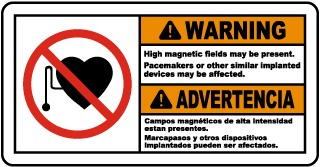 Warning High magnetic fields may be present Sign