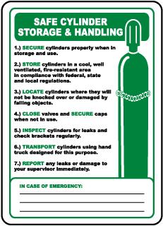 Cylinder Storage & Handling Sign