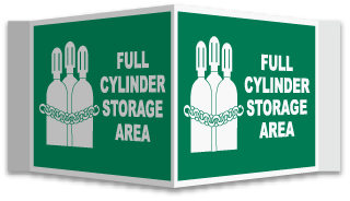3-Way Full Cylinder Storage Area Sign