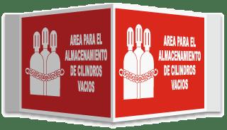 Spanish Empty Cylinder Storage 3-Way Sign