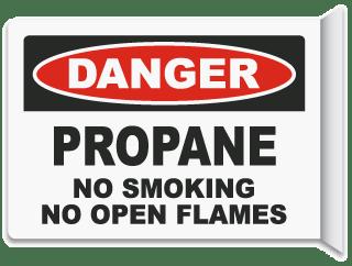 2-Way Propane No Smoking Sign