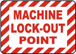 Machine Lockout Point Label