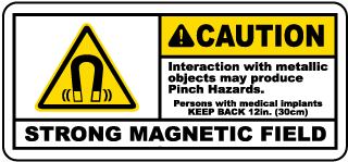Caution Interaction with metallic objects may produce.. label