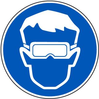 Wear Eye Protection Label