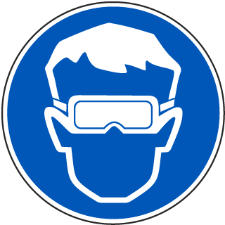 Wear Eye Protection Label