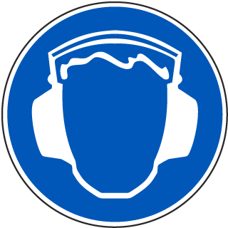 International Ear Protection Required Symbol Label