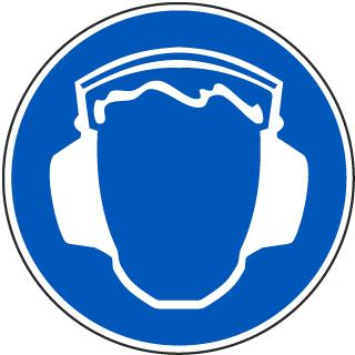 Wear Ear Protection Label