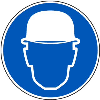 International Hard Hat Required Symbol Sign