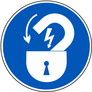 Lock Out Electrical Power ISO Label