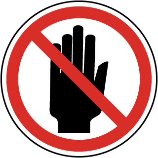 International Stay Clear or Stop Symbol Label