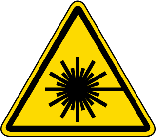 International Laser Beam Hazard Symbol Label