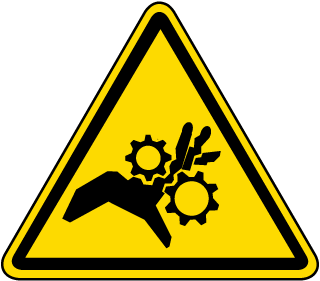 International Pinch Point Hazard Symbol Label