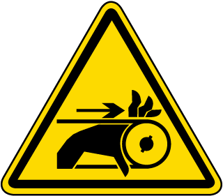 International Hand Entanglement Hazard Symbol Label