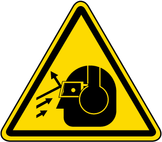 International Ear & Eye Hazards Hazard Symbol Label