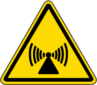 International Non-ionizing Radiation Hazard Symbol Label