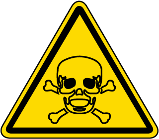 International Toxic Hazard Symbol Label