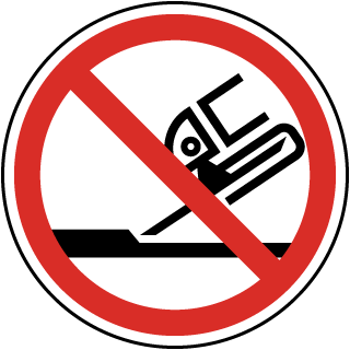 International Do Not Use For Face Grinding Symbol Label