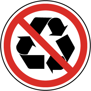 International Do Not Recycle Symbol Label
