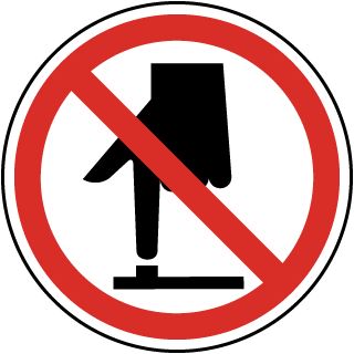 International Do Not Touch Symbol Label