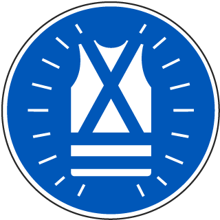 International High Visibility Vest Required Symbol Label