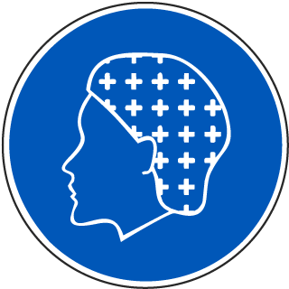 International Hairnet Required Symbol Label