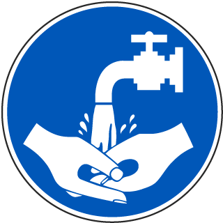 International Hand Washing Symbol Label