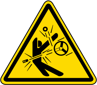 International High Speed Moving Parts Hazard Symbol Label