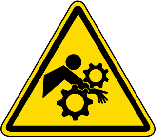 International Pinch Point/Entanglement Hazard Symbol Label