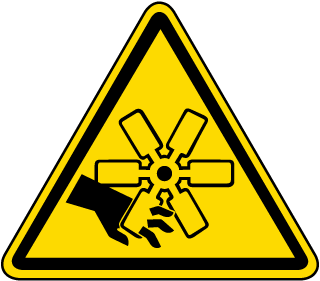 Rotating Blades / Cut Hazard Label