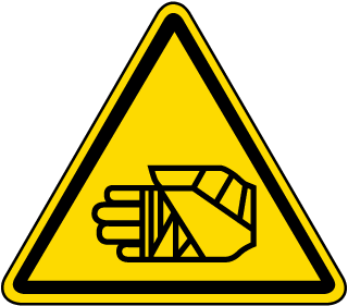 International Chemical Burns Symbol Label