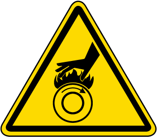 International Hot Surface/Roller Symbol Label