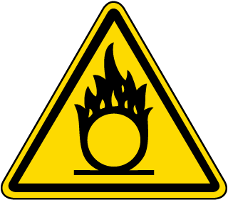 International Oxidizing Hazard Symbol Label