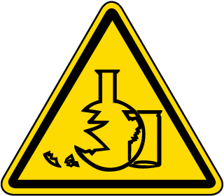 International Glass Hazard Symbol Label