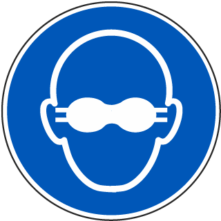 ISO Symbol Wear Eye Protection Symbol Label