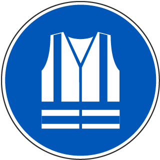 ISO Symbol Wear High-Visibility Clothing Symbol Label