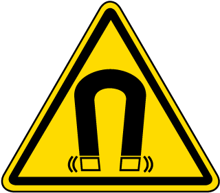 ISO Symbol Warning Magnetic Field Symbol Label
