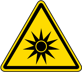 ISO Symbol Warning: Optical Radiation Symbol Label