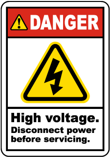 Danger High Voltage. Disconnect Power Before Servicing.