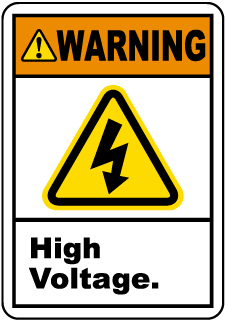 Warning High Voltage.