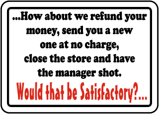 How about we refund your money, send you a new one at no charge.. Sign