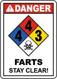 Danger  4-4-3 Farts Stay Clear Sign