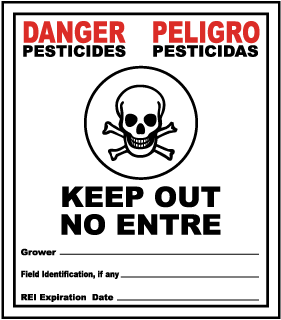 Danger Pesticides Keep Out / Peligro Pesticidas No Entre.. Sign
