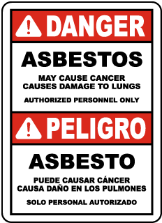 Bilingual OSHA Compliant Asbestos Sign