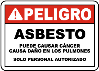 Spanish OSHA Compliant Asbestos Sign