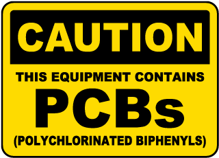 Caution This Equipment Contains PCBs Polychlorinated Biphenyls sign