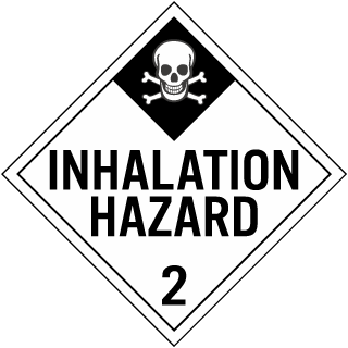 Hazard Class 2 Gases Inhalation Hazard DOT Placard