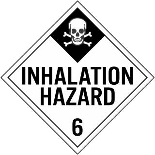 Hazard Class 6 Inhalation Hazard DOT Placard