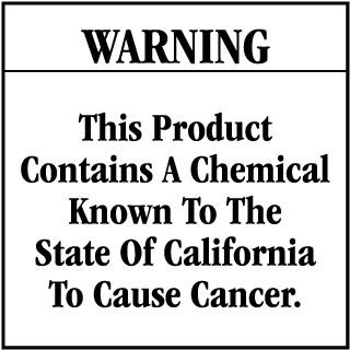 Warning This Product Contains A Chemical Known To The State Of California To Cause Cancer CA Prop 65 Signs