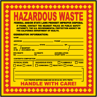 Hazardous Waste Federal Law Prohibits California EPA Req. Label