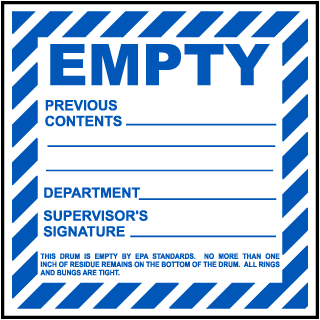 Empty Previous Contents Label
